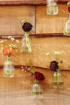 Bud Vases - Boho Botanical Bridal Shower - Rustic Garden Party Theme