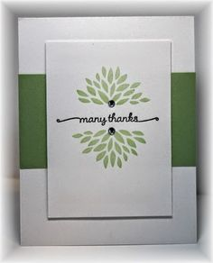 Stampin' Up! ... handcrafted card from Scrappin' and Stampin' in GJ ... thank you ... elegant design ...