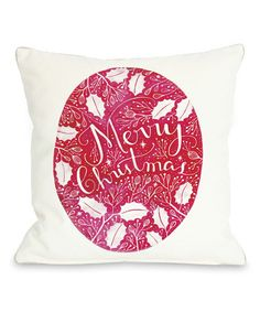 Take a look at this White & Red 'Merry Christmas' Ivy Pillow by OneBellaCasa on #zulily today!35