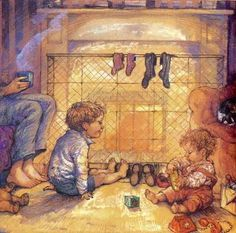 Alfie and Annie Rose - illustration by Shirley Hughes Shirley Hughes, Annie Rose, Children's Book Illustration, Book Illustrations, Penny Black, Childrens Books, Concept Art, Childhood, Drawings