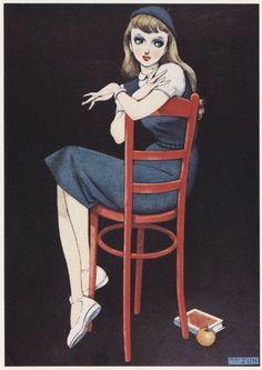 Feh Yes Vintage Manga History Of Manga, Character Art, Character Design, Postcard Art, Retro Illustration, Pin Art, Illustrations And Posters, Cute Drawings, Japanese Art
