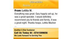 Everything was great. Gary happily set up, he was a great operator. I would definitely...