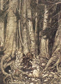 Arthur Rackham trees http://untendedgarden.com/wp-content/uploads/2009/12/ar_rvw2.jpg