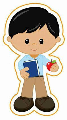 boy clipart Baby Cartoon Drawing, Cartoon Kids, Children's Book Characters, Nurse Art, School Images, School Clipart, Printable Activities For Kids, Kids Logo, Lol Dolls