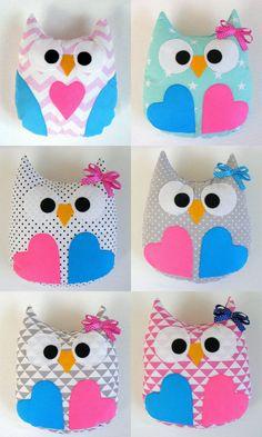 Gorgeous handmade owl pillow,baby gift,mrs. owl, handmade,kids room, girl
