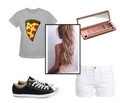 """Untitled #64"" by aidycat16 ❤ liked on Polyvore featuring Urban Decay, Frame and Converse"