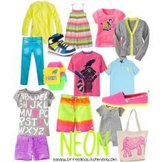 Coffee and Cashmere picks. Neon children's fashion!