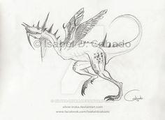 Dracosaurus by Isabel D. Cabado http://silver-iruka.deviantart.com https://www.facebook.com/isabeldcabado