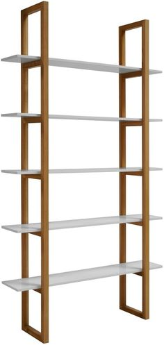 Regał STORE, 200x110 cm, dębowo-biały, 60039-1