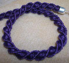 Corkscrew Kumihimo Bracelet