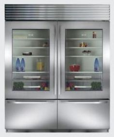 A Top Of The Line Kitchen Package, Including A PRO 48 Glass Door  Refrigerator/freezer And Full Size Wine Storage Unit From Sub Zero,u2026
