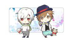 Mafumafu and Amatsuki Anime Chibi, Kawaii Chibi, Anime Art, Chibi Characters, Fictional Characters, Boy Character, Fandom, Cover Songs, Line Sticker