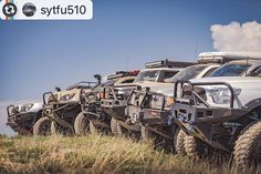 Awesome line up #Reposting @sytfu510 -- #frontendfriday up at signal peak. A lot of bumpers represented here.. Photo by @247daryl #toyota #tacoma #fjcruiser #4runner #demello #arb #offroad #relentless With: @mjonags32 @adv_t4r @snubby357 @mademan925 @life_of_a_tw_wife http://ift.tt/2cgKT56