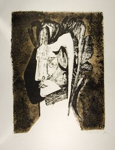 """Absolom's Head"" by Robert Colquhoun, 1961 (lithograph)"