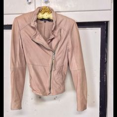 Muubaa Pink Leather Jacket Size 4, never worn, buttery soft. No flaws. Price firm Muubaa Jackets & Coats
