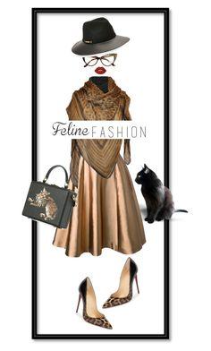 """Cat Lady"" by nisak-tf ❤ liked on Polyvore featuring Christian Louboutin, Merchant Archive, Brandon Maxwell, Roberto Cavalli, Vince Camuto, Lime Crime and Dolce&Gabbana"