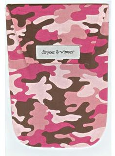 Diapee & Wipees Diaper Holder (Pink Camo).