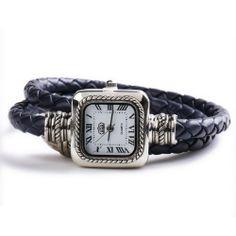 USS Unique Women Ladies Knitted Band Bracelet Style Quartz Wrist Watch Deep Blue USS. $7.85