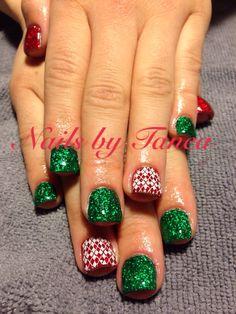 Christmas nails. Nails 2013. Nailed by Tanea. Nail stamping
