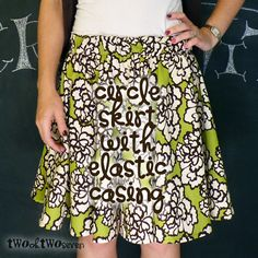 2027: 31 Days of Shut Up and Sew: Circle Skirt with Elastic Casing