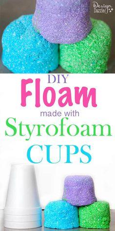 DIY Styrofoam Cup Floam - Design Dazzle