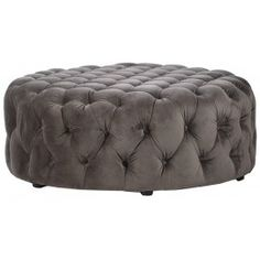 blue oversized round ottoman pouf polsterhocker runde. Black Bedroom Furniture Sets. Home Design Ideas