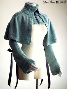 Sleeved Mantelet Knitting Pattern Enelya by TheJaneVictoria