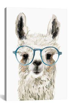 Hip Llama II Canvas Print by Victoria Borges Alpacas, Canvas Wall Art, Canvas Prints, Art Prints, Llamas Animal, Llama Drawing, Llama Pictures, Llama Images, Llama Arts