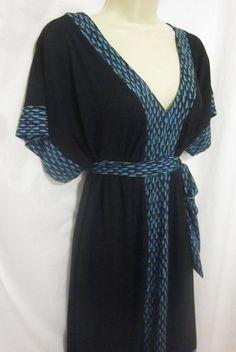 d650faf3 Liz Lange Targe Maternity Dress Large Belted Black Blue Green Accent Knee  Length #LizLangeMaternity #
