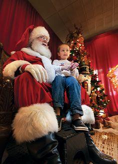 Enchanted with Santa at The Woodlands Resort, amid a wonderful Woodlands Wonderland.