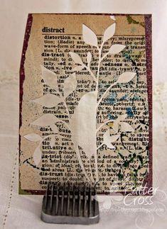 Adhere thin paper to scrap cardstock to cut delicate dies more easily.    DieCutDictionaryA