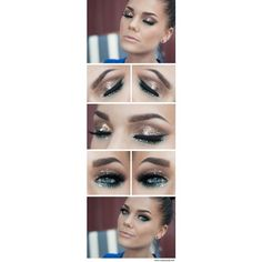 20 Amazing Makeup Tutorials for Blue Eyes ❤ liked on Polyvore featuring beauty products, makeup, eye makeup, blue makeup, glamorous makeup and blue eye makeup