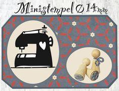 Stempel Nähmaschine von Zwergen Stempel auf DaWanda.com