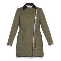 Altuzarra Hastings shearling-lined parka (108.505 RUB) ❤ liked on Polyvore featuring outerwear, coats, khaki, brown coat, khaki coat, quilted coat, shearling lined parka and khaki parka
