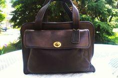 Coach EUC Rare Vintage Bonnie Cashin Leather Mahogany Brown Tote Handbag #Coach #TotesShoppersHandbags