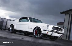 The team at Oregon's Metalworks Classic Auto Restoration built this incredible '65 Ford Mustang Fastback powered by a MSD Atomic fuel-injected 347ci stroker and riding on Detroit Speed suspension, JRi coilovers, Wilwood disc brakes, and Bridgestone Potenza tires on 18x8/19x11 Forgeline RB3C wheels finished with Satin Black centers & Brushed outers. See more at: http://www.forgeline.com/customer_gallery_view.php?cvk=1630  #Forgeline #RB3C #notjustanotherprettywheel #madeinUSA #Ford #Mustang