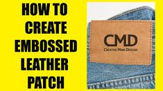 How to create Embossed Leather Patch Fashion Flats, Apparel Design, Design Tutorials, 3 D, Patches, Menswear, Create, Leather, Fashion Design