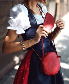 Dirndl Bag von Bea Bühler Traditional Outfits, Saddle Bags, Fashion Backpack, Backpacks, Clothing, Closet, Dresses, Style, Fashion Styles