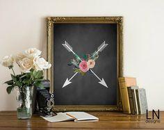 Instant Arrow Chalkboard Printable Art by mylovenotedesigns