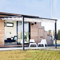 Paviljong Jabo Pergola Vägg Naturvit - Paviljong - Markiser & solskydd