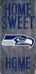 """Seattle Seahawks Wood Sign - Home Sweet Home 6""""x12"""""""