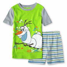 NWT FROZEN Three Piece Olaf SUMMER PAJAMAS Size 2 2T Shirt Shorts Not Elsa Anna