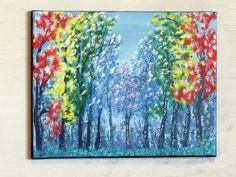 Rainbow View, Rainbow Tree Wall Decor, Original Acrylic Painting on Canvas, Colorful Handpainted Landscape Wall Art, Unique Gift Idea The Art Sherpa, Tree Wall Decor, Acrylic Painting Canvas, Your Paintings, Unique Gifts, Art Pieces, Trees, Rainbow, Hand Painted