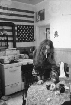 February 4, 1969: Janis Joplin in her Noe Street Apartment in San Francisco, CA