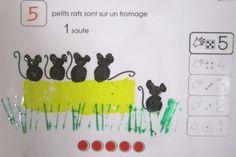 Album à décompter Grande Section, Petite Section, Cycle 1, Rats, Champs, Album, Letters, Education, School