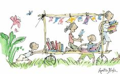 Book Bus Expeditions . Quentin Blake
