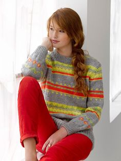 Electric Avenue Pullover in Lion Brand Vanna's Choice - L30232. Discover more Patterns by Lion Brand at LoveKnitting. The world's largest range of knitting supplies - we stock patterns, yarn, needles and books from all of your favorite brands.
