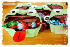 Boîtes à sucreries en forme de grenouilles!