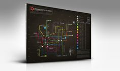 Information graphic // Neon Subway map by Lemongraphic , via Behance