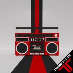 017-3D-Retro Boom Box  http://www.tazonium.com/017-3d-retro-boom-box/  #tazonium #retro #lowpoly / #highpoly mix #blender #blender3d #b3d #render #cg #computergraphics #art #illustration #digitalart #cassetteplayer #oldschool #learning #experimenting #selftaught